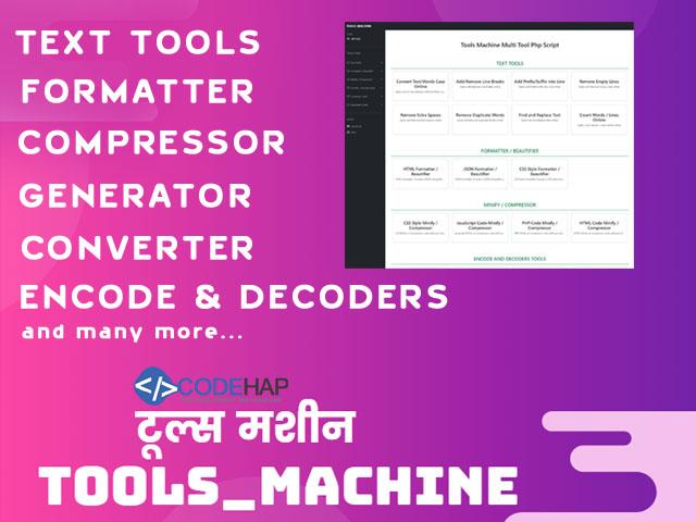 thumb Tools Machine - Online  Multi Tools Php Script