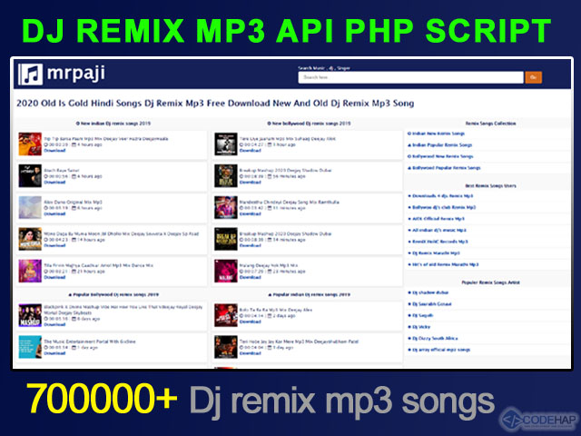 Dj Remix Mp3 Api Php Script (Hearthis) No DATABASE